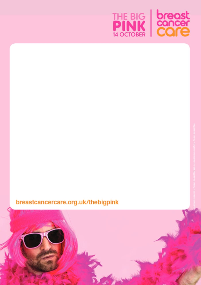 A man in a pink wig