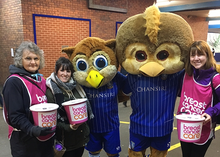 bucket collection at sporting event