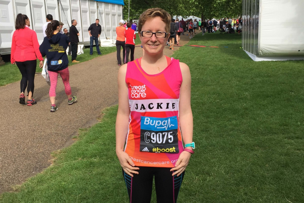 Jackie Scully at a 10k race