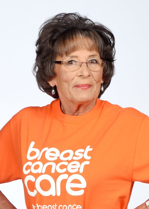 Christine Jowett is a model in this year's Breast Cancer Care fashion show