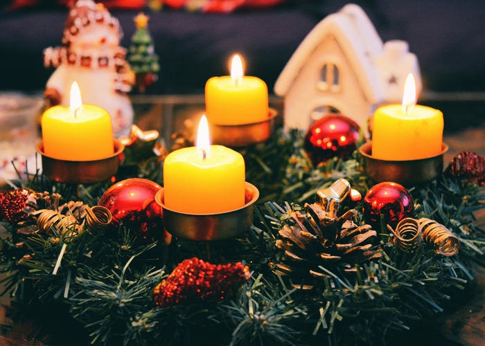 Christmas and winter candles