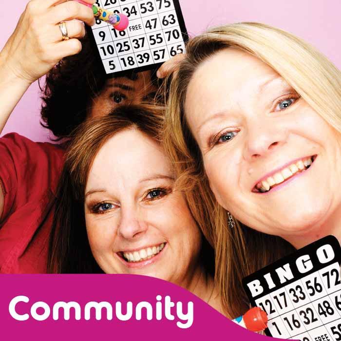 Big Pink fundraisers playing bingo