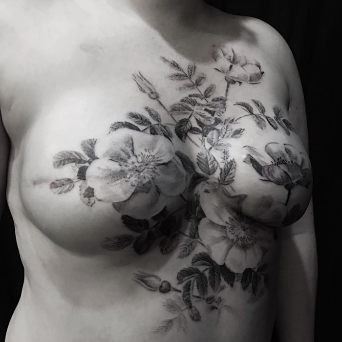 eight inspiring mastectomy tattoos breast cancer care. Black Bedroom Furniture Sets. Home Design Ideas