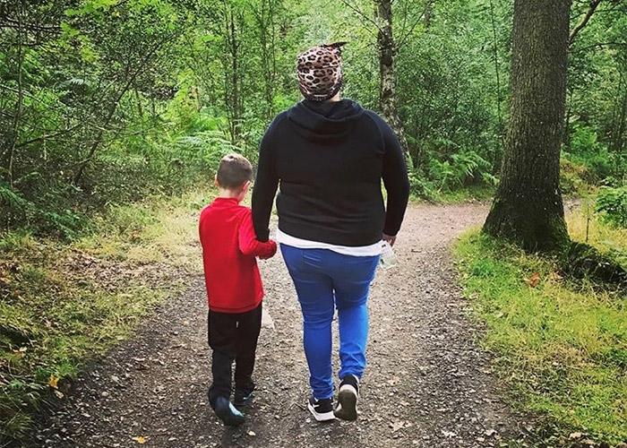 Emma and Josh on a walk