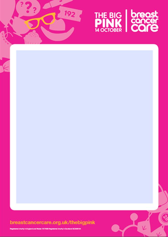 A big pink poster