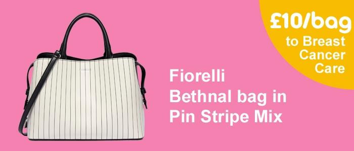 Fiorelli Mia Grab handbag in pinstripe