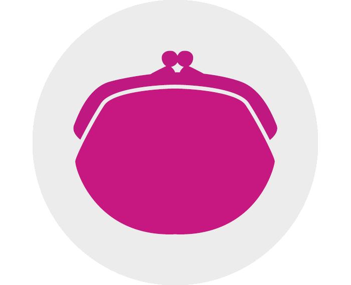 A purse icon