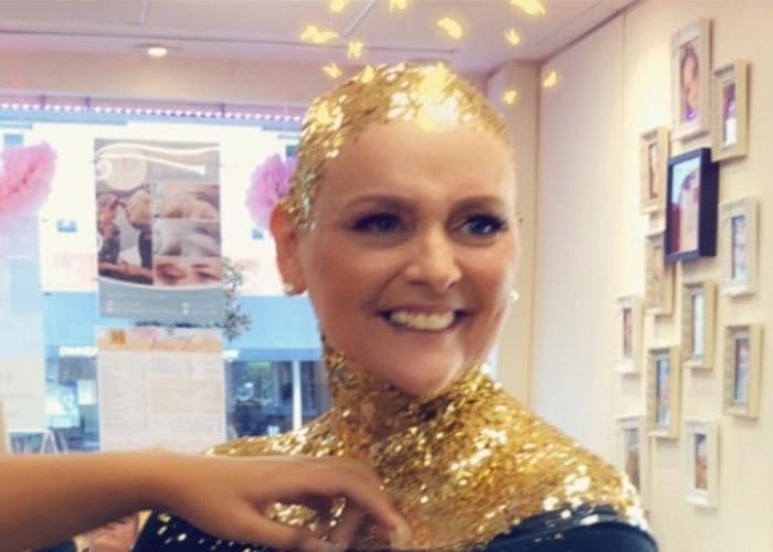 Debbie getting glittered