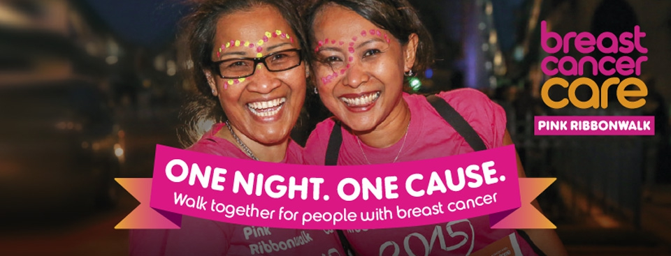Fundraise for Breast Cancer Care on a Pink Ribbonwalk