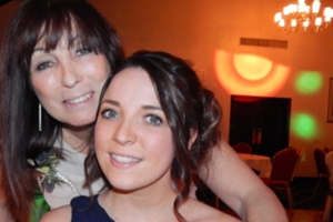 Jade with her mum
