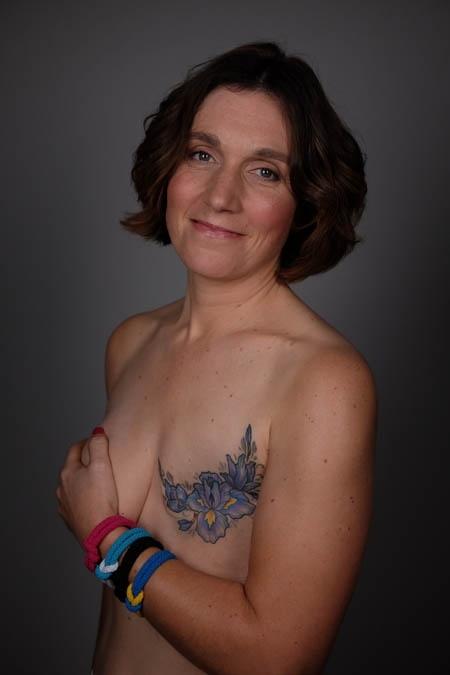 kerry allison, tattoo, mastecomy, scar, portrait