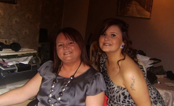 Kirstie with her mum
