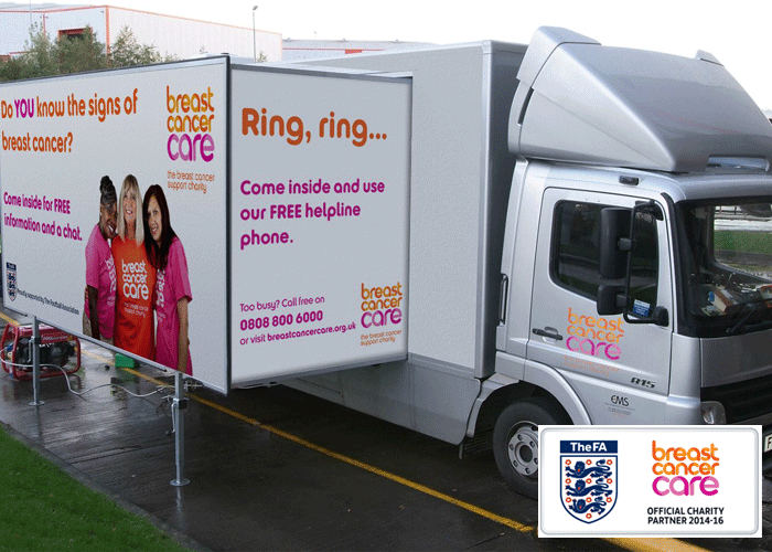 take part in the name our breast awareness roadshow bus competition