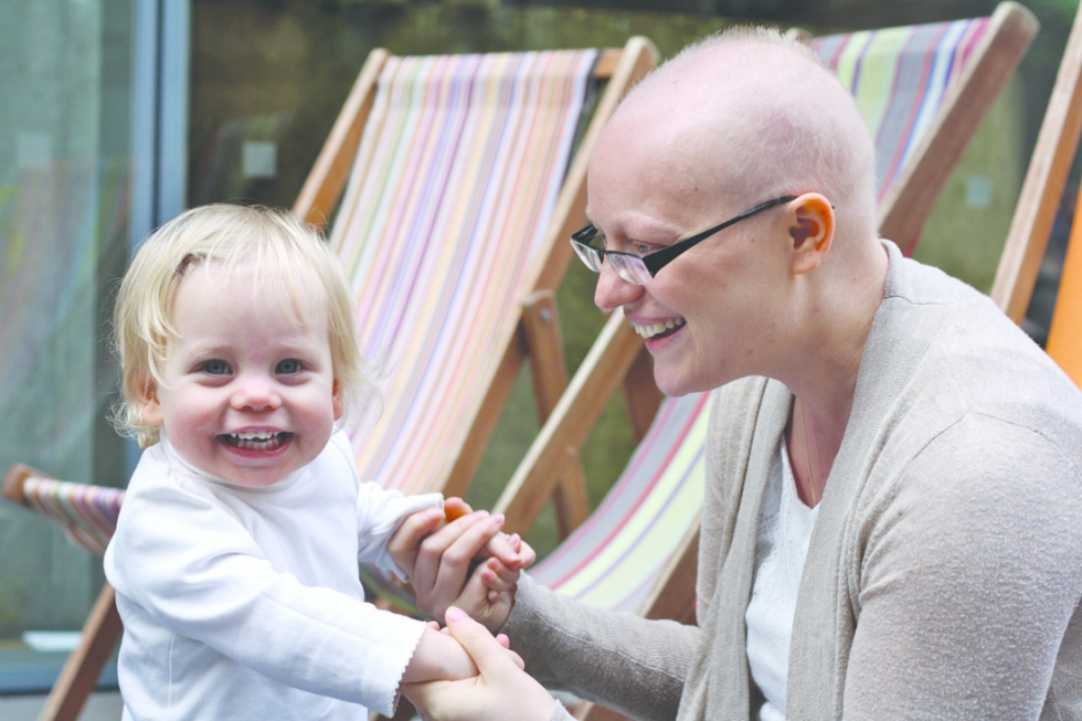A young mother with breast cancer