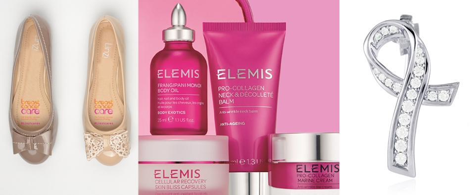 An image of various products available to buy to help support Breast Cancer Care