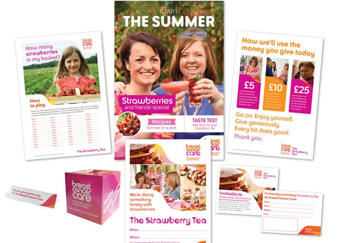 Strawberry Tea fundraising materials