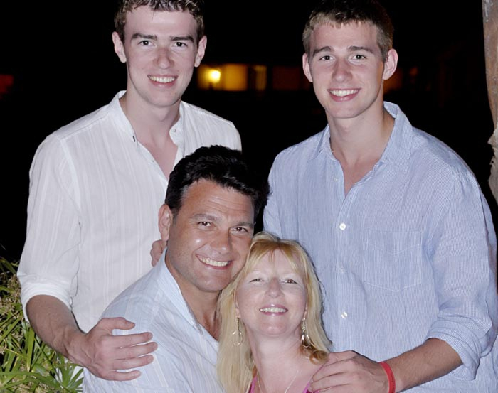 Stephanie, with Gary and their two sons