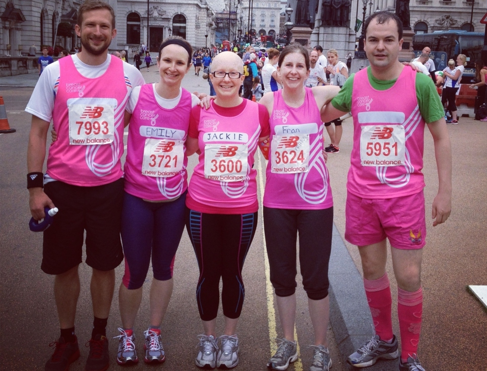 Jackie Scully and team at London marathon