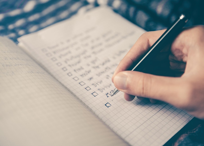 Writing a do list