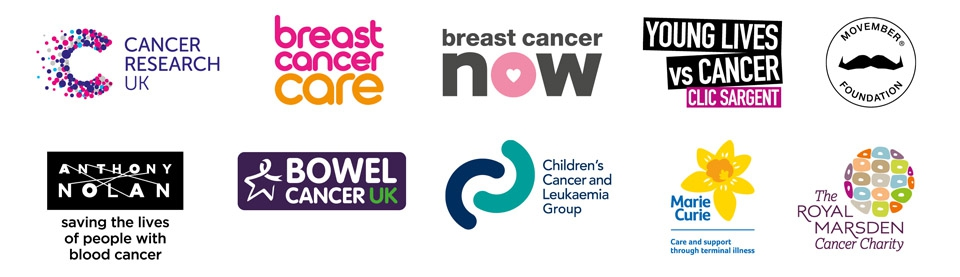 World Cancer Day charity logos