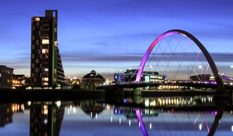 An image of the Glasgow sky line