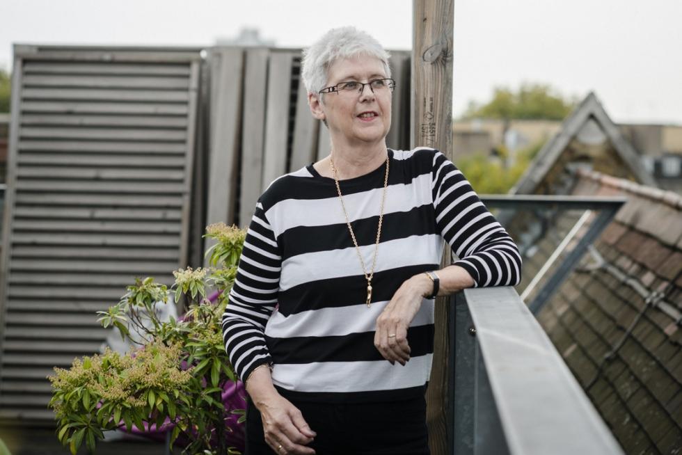 image of woman outside
