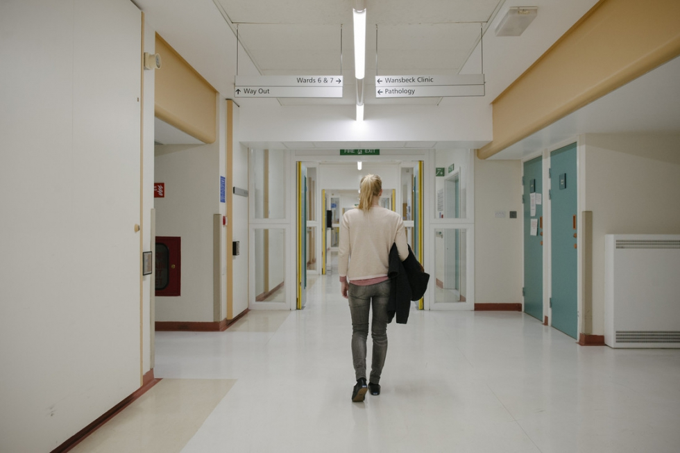 Lonely hospital corridor