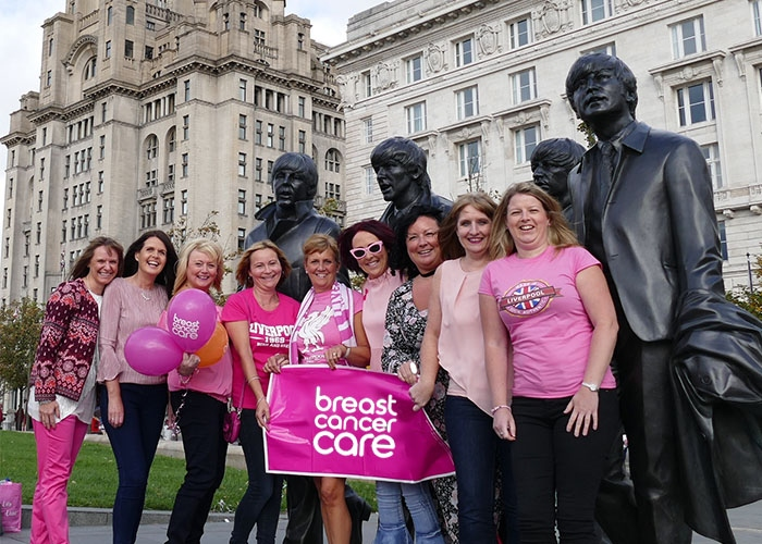 Jane and her friends having a Big Pink in Liverpool