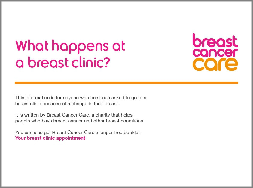 What happens at a breast clinic PDF