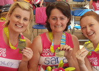 Women with medals