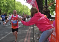 Breast Cancer Care supporter running the Bupa London 10,000