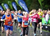 Runners at the Edinburgh Marathon Festival
