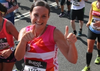 Breast Cancer Care supporter running the Great Women's Glasgow Run