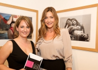Photograph of Lisa Snowdon at the 2009 Renaissance Photography Competition Exhibition taken by Anne O'Sullivan