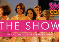 Breast Cancer Care models on a catwalk