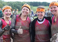 A group of Breast Cancer Care fundraisers at Tough Mudder