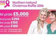 Breast Cancer Care Christmas raffle Northern Ireland 2016