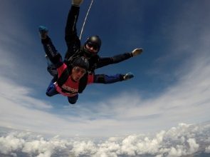 A skydiving #caredevil takes on one of the biggest challenges in support of Breast Cancer Care