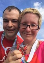 Jackie and her fiancee run the Richmond marathon