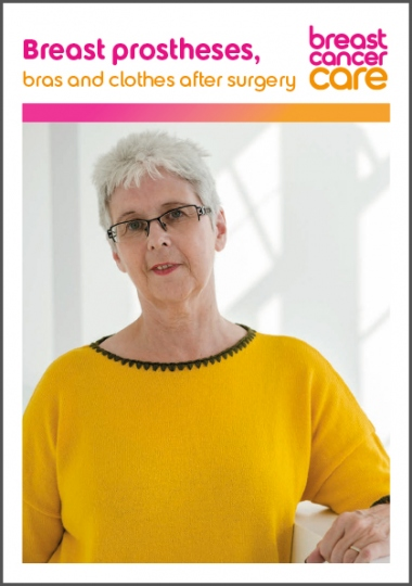Breast prostheses, bras and clothes after surgery information booklet