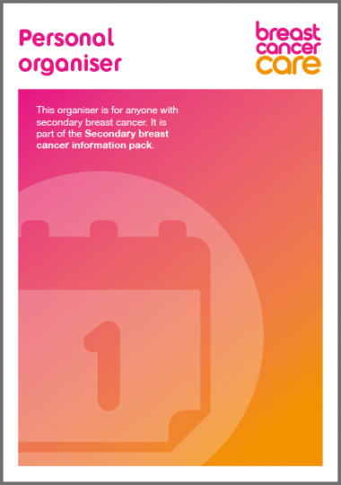 Personal organiser secondary breast cancer